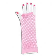 Fishnet Gloves (Pink)